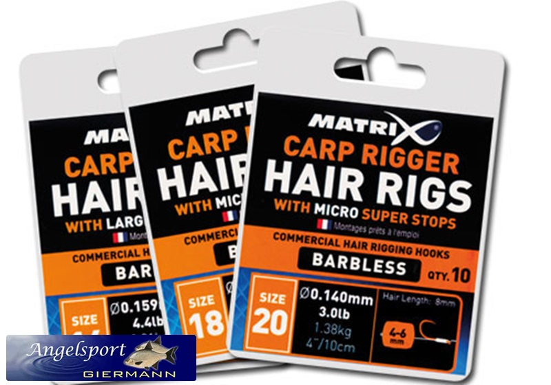 Matrix Carp Rigger Hair Rig Size 20